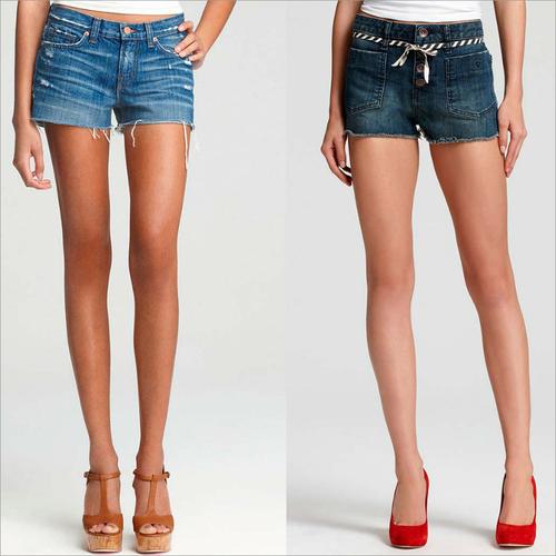 Womens High Waist Denim Shorts
