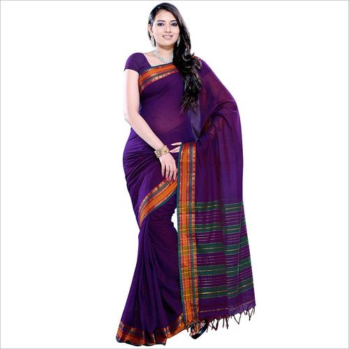 Womens Cotton Saree with Border