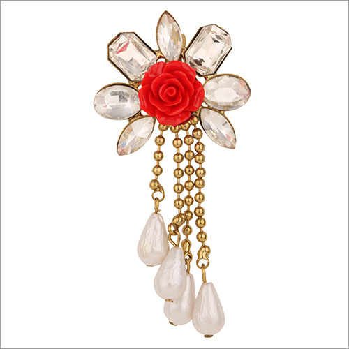 Crystal Poppy Brooch
