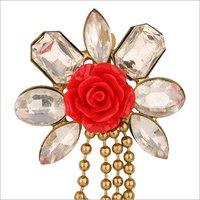Crystal Poppy Brooch