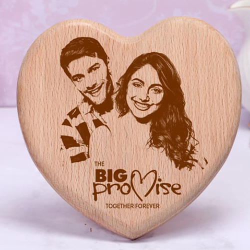 Wooden Heart Plaque For Engraving
