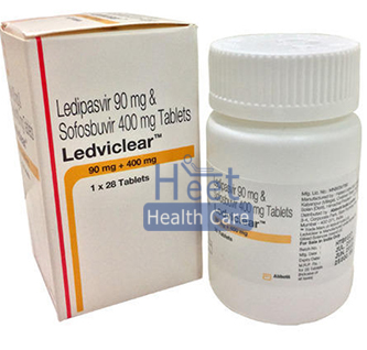 Ledviclear Ledipasvir 90 mg and Sofosbuvir 400 mg Tablets