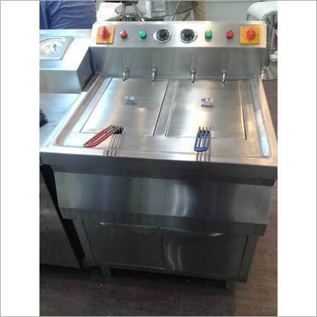 Standing Double Deep Fat Fryer
