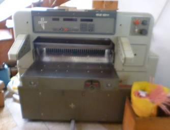 Post Printing machine (Binding and cutting equip.)
