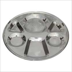 SS 6 Section Compartment Plate