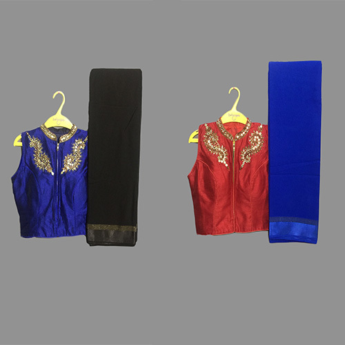 Black Designer sareeWith Ready Made Blouse