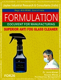 ANTI-FOG GLASS CLEANER