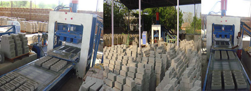 Automatic Fly Ash Brick Machine - Single Feeder