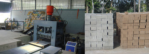 Automatic Fly Ash Brick Making Machine - 21 Bricks