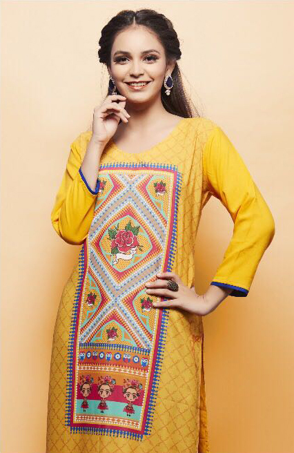 Booty Printed Rayon Kurtis online wholesale