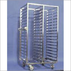 SS Vial Tray Trolley