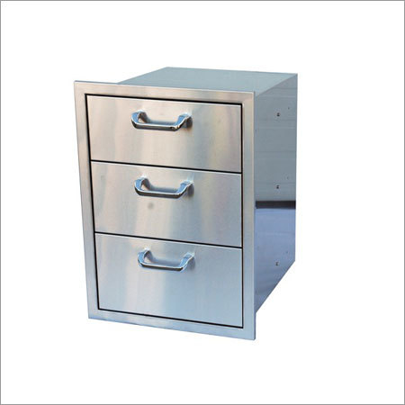 SS Storage Cabinet with Drawer