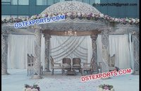 Wedding Mandap with white theme
