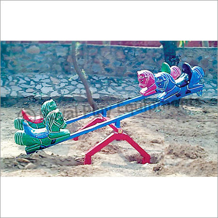 Four Seater See Saw - Horse