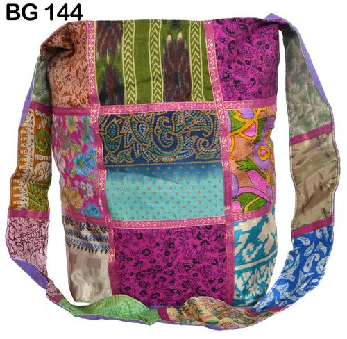 Vintage Sari Fabric Shoulder Bag