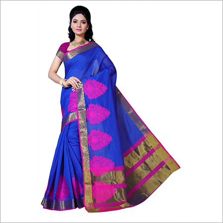 Kanchipuram Polycotton Skirt Butta Chitpallu Saree