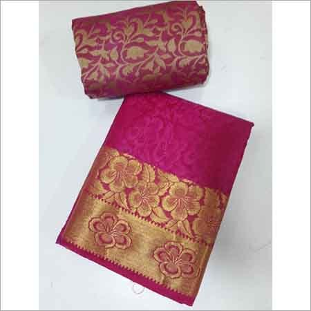 Kanchipuram Art Brasso Self Sarees(Design no 1) With Extra Additional Blouse