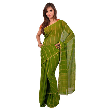 Chiffon Piping Border pattern Chitpallu Saree