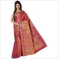 Kanchipuram Brocket Umbrella Meena Sarees