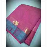 Tussar Lehariya Lotus Border Saree