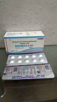 Bisoprolol Fumarate Usp 2.5 Mg Usp + Hydrochlorthiazide Ip 6.25 Mg