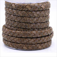 Flat Leather Braided cord