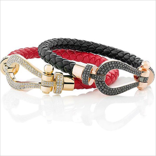 Hunter Round  Braided Leather