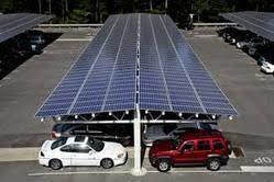 solor car parking shed