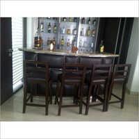 Wooden Counter Chair Set