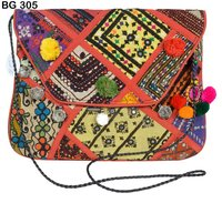 Vintage Banjara Fabric Clutch Bag