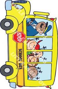 Wooden Cartoon Bus