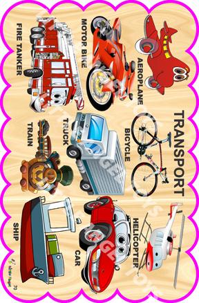 transportation Bulletin Wooden Board