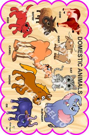 Wooden Cartoon Animals Cutouts