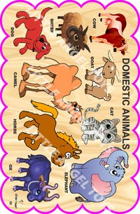Wooden Cartoon Animals Cutouts
