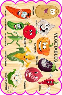 Wooden Cartoon Vegetable Cutouts