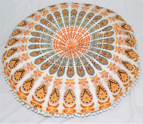 Mandala Floor Round Cushion Cover