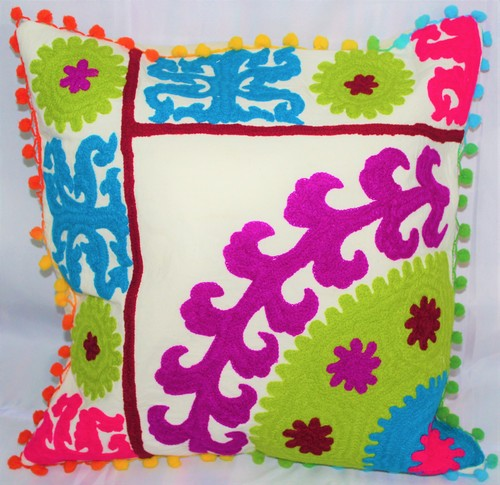 Cotton Embroidered Suzani Cushion Cover