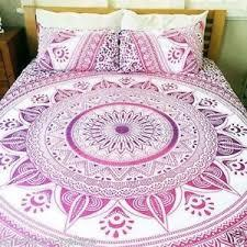 Ombre Mandala Indian Duvet Doona Cover Boho