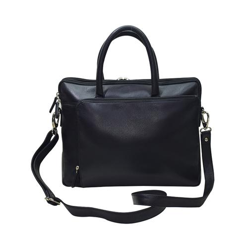 Finished Leather Laptop Bag Color Black