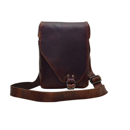 Stylish Leather Cross Body Bag Color Brown