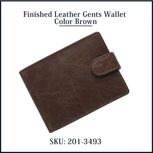 Finished Leather Gents Wallet Color Brown