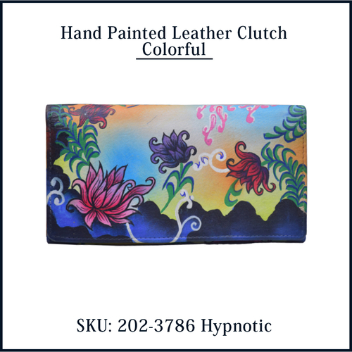 Hand Painted Leather Wallet