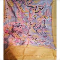 Acid Printing Trendy Tasar Saree