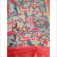Acid Printing Casual Tasar Saree