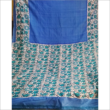 Block Print Silk Saree