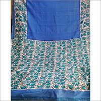 Designer Block Printed Silk Saree