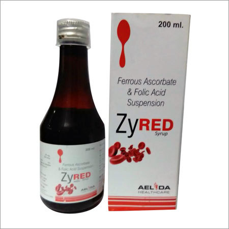 Ferrous ascorbate with folic acid syrup