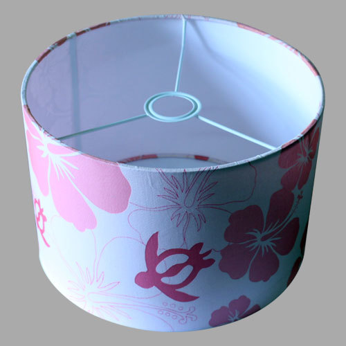 Printed Drum Lamp Shade