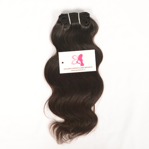 Machineweft Brown Wavy Hairs