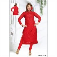 Ladies Net Fabric Kurti